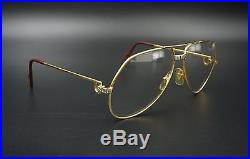 Vintage Authentic Cartier Paris Vendome Santos Eyeglasses Large 62 14 M469