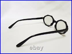 Vintage Black France frames Myrna Paris Eyeglasses Octagon Octagonal glasses