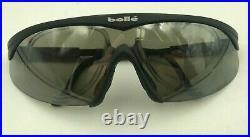 Vintage Bolle 13M Black Shield Sunglasses Eyeglasses Frames France