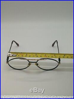 Vintage Bugatti 02927 Black Pilot Eyeglasses /sunglasses Frame Made In France