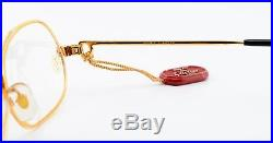 Vintage CARTIER Eye Frame Panthere P. M SERIE LIMITEE 22ct GP Gold 54-15 S/M NOS