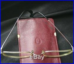 Vintage CARTIER Eyeglasses in Red Leather Case 54-21-140