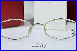 Vintage CARTIER GINGER platine Sunglasses Lunette Brillen New NOS Frame Eyeglass