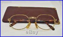 Vintage CARTIER LEUR Eyeglasses Sunglasses Lunettes Gold Silver Plated Frame