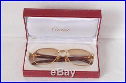 7942c35b3426f Vintage CARTIER MONCEAU PALISANDER Sunglasses Eyeglasses Lunettes Rosewood  Gold