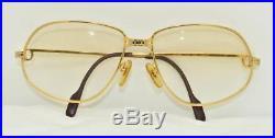 Vintage CARTIER PANTHERE Eyeglasses Sunglasses Lunettes Gold Plated Frame