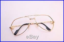 Vintage CARTIER PARIS 24K gold filled eyeglasses frames Serial 495588 Size 59-16
