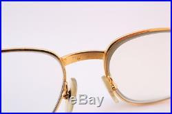 Vintage CARTIER PARIS 24K gold filled eyeglasses frames Serial 724851 Size 54-18
