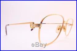 Vintage CARTIER PARIS 24K gold filled eyeglasses frames Size 59-18 140 France
