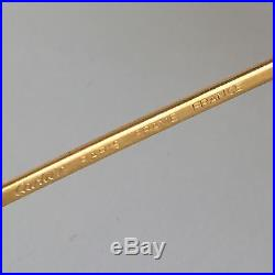 Vintage CARTIER PARIS 24k Gold Filled Eyeglasses Frames Size 53-20 Made In Franc