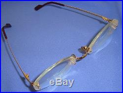 Vintage CARTIER Paris 130 made in France Round Eyeglass Sample as told 1664147