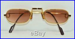 Vintage CARTIER Red Lacquer Eyeglasses Sunglasses Lunettes Gold Plated Frame