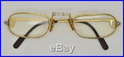 Vintage CARTIER SANTOS Reading Eyeglasses Lunettes Gold Plated Frame