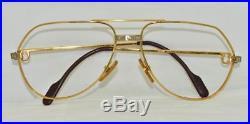 Vintage CARTIER Santos Eyeglasses Sunglasses Lunettes Gold Plated Frame