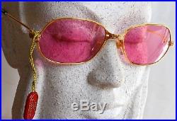 7cfb0897b6 Vintage CARTIER Sunglasses Panthere P. M SERIE LIMITEE 22ct GP Gold 56-17 M