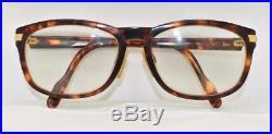 Vintage CARTIER Sunset Eyeglasses Sunglasses Tortoise shell Frame 18K Gold Plate