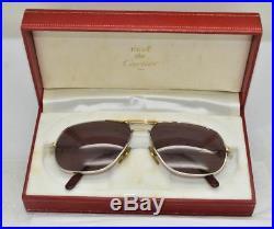 Vintage CARTIER Tank Louis Eyeglasses Sunglasses Lunettes White gold Plated