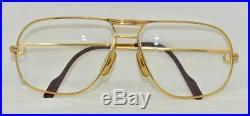 Vintage CARTIER Tank Louis Eyeglasses Sunglasses Lunettes gold Plated