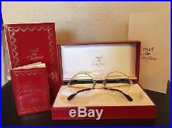 Vintage CARTIER Women's Gold Eyeglasses in Original Box withcertificate