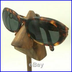Vintage Cartier Brown Tortoise Oval Sunglasses Eyeglasses Frames France