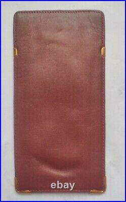 Vintage Cartier Burgundy Leather Eye Glasses Case