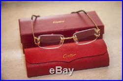 445457c9cc Vintage Cartier C Decor Optical Frames Rimless Eyeglasses