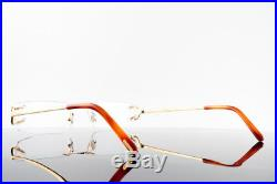 8fa08db302 Vintage Cartier C Decor Optical Frames Rimless Eyeglasses