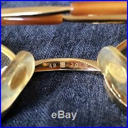 Vintage Cartier Eyeglass Frames Oval Brushed Pale Gold Authentic 48-20