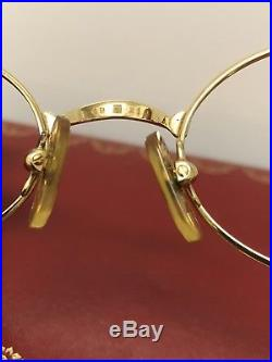 Vintage Cartier Gold Plated Eyeglasses
