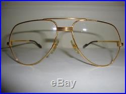 Vintage Cartier LOUIS Clear Lens Gold Glasses 59/16 135 SET Box