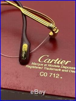 Vintage Cartier Luxury Gold Eyeglasses 53-18 140 Paris Made in France Very Rare