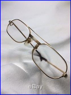 Vintage Cartier Occhiali/Eyewear Gold Frame 1983