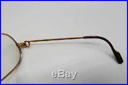 Vintage Cartier Panthere 1989 GOLD Rx Eyeglasses Frames 5415 Louis santos A518