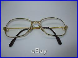 Vintage Cartier Panthere Eyeglasses Frame 22ct Gold Finish 54-17 c1989