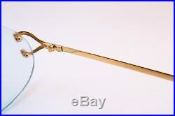 Vintage Cartier Paris 24K gold filled eyeglasses frames Serial 1677308 France