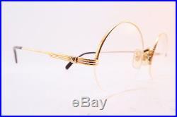 Vintage Cartier Paris 24K gold filled eyeglasses frames Size 45-20 135 France