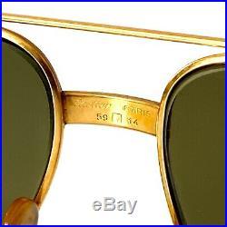 Vintage Cartier Paris Vendome LC 59 14 130 Sunglasses Made In France