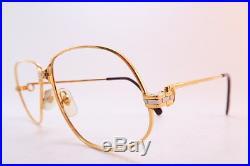 Vintage Cartier Paris eyeglasses frames 24K gold filled 56-14 PANTHERE France