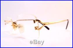 Vintage Cartier Paris eyeglasses frames 24K gold filled rimless serial 1398018
