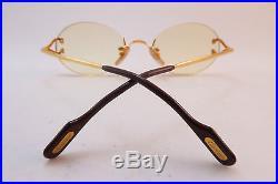 Vintage Cartier Paris eyeglasses frames 24K gold filled rimless serial 2236198