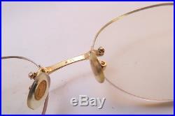 Vintage Cartier Paris eyeglasses frames TITANIUM rimless 20. 140 sl # 2879050