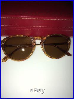 Vintage Cartier Romance 2-Tone Gold-Plated Designer Eye Glasses Frames 50-24-140