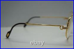 Vintage Cartier Romance Louis 58mm Eyewear Eyeglasses Frame Gold Plated France
