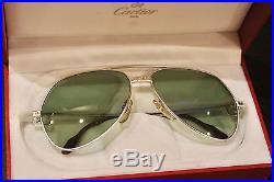 Vintage Cartier Santons Titanium Sunglasses New