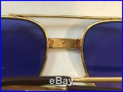 Vintage Cartier Santos Aviator Bi-Color Eyeglasses 18K Gold Plated, 1980s