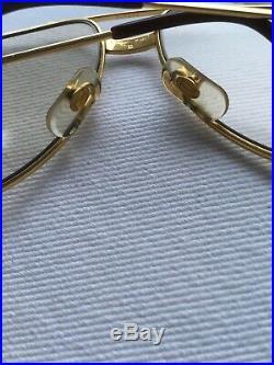 Vintage Cartier Santos Vendome Gold Aviator Eyeglass Frames