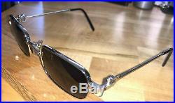 Vintage Cartier Silver-tone Metal Eyeglass Frames Paris, France 48-21-135