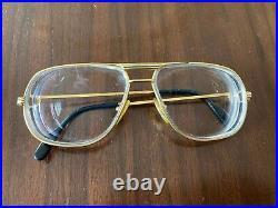 Vintage Cartier Tank Gold Sunglasses / Eyeglasses Frames Authentic 1988