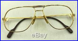 Vintage Cartier Vendome Gold Metal Aviator Sunglasses Eyeglasses Frames France