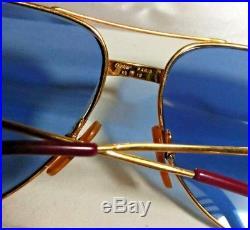 Vintage Cartier Vendome Santos Aviator Eyeglasses James Bond 18K Gold Plated